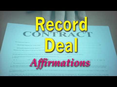 Record Deal - Powerful Affirmations to attract a record deal - Super-Charged Affirmations