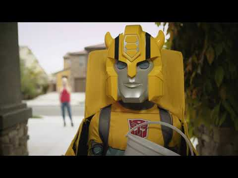 Transformers Child Bumblebee Converting Costume