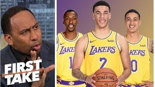 Stephen A. worried for younger Lakers in home opener against Rockets | First Take