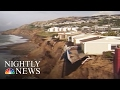Cliffside Homes Near Collapse in California Due to El Niño Erosion | NBC Nightly News