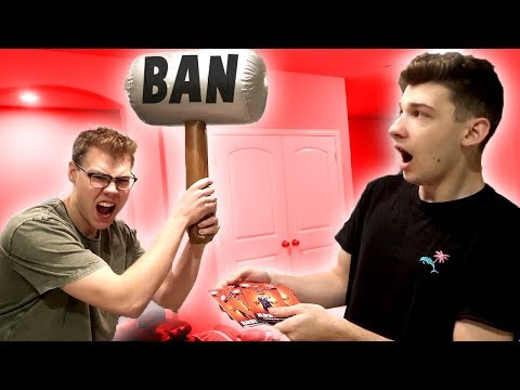 BANNING POKE WITH A BAN HAMMER!! *HE STOLE MY ROBUX* (Roblox IN REAL LIFE)