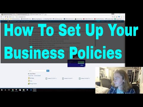 Drop Shipping eBay How to Set Up Business Policies, Payment, Shipping, and Return