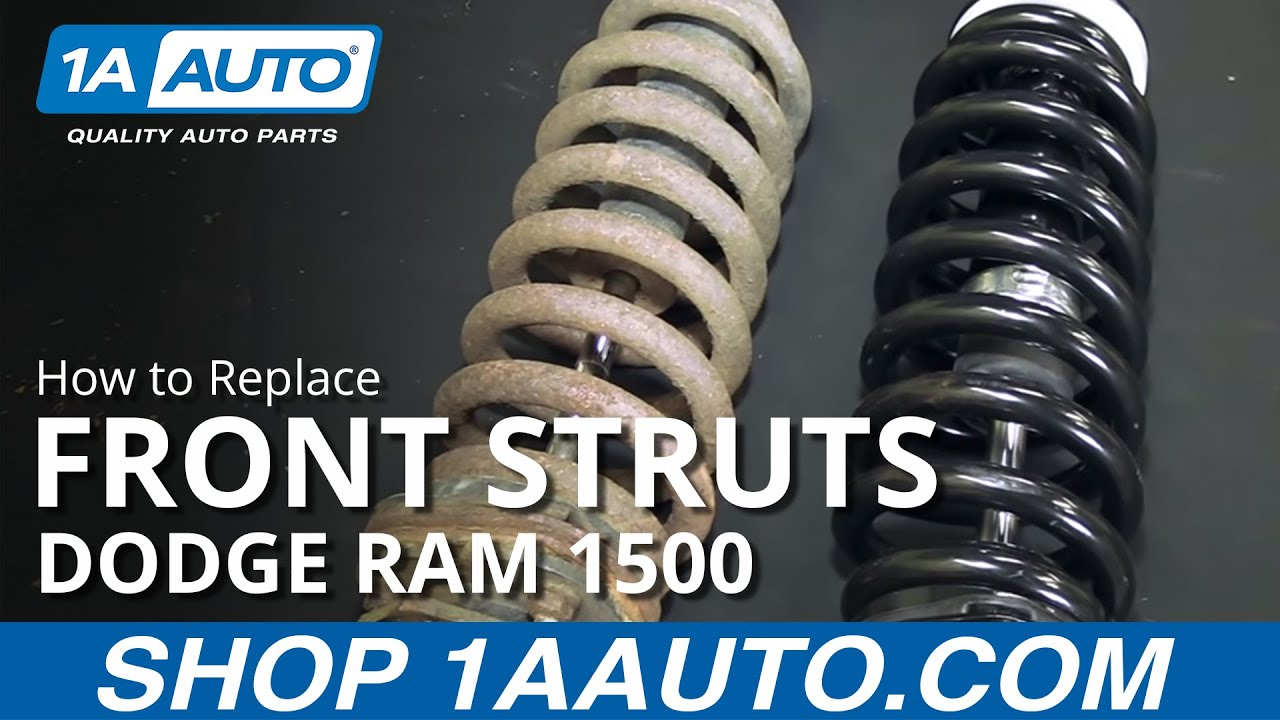 hight resolution of how to replace front struts 06 08 dodge ram 1500