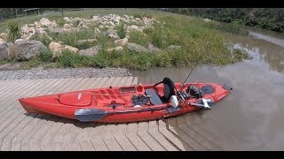 Test Run of my new Watersnake 24lb electric Kayak Motor on the Hobbie Revo!