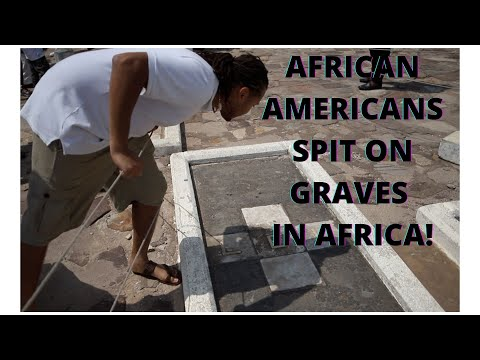 Ghana's Truth On Slave Trade, AA Spit On Slave Owners Graves in Dungeons in Elmina