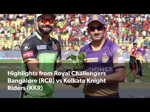 IPL 2017: Highlights of Royal Challengers Bangalore (RCB) vs Kolkata Knight Riders (KKR)