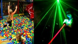Indoor Playground Fun - Laser Tag Guns -  Sammie's 5th Birthday Party !!!