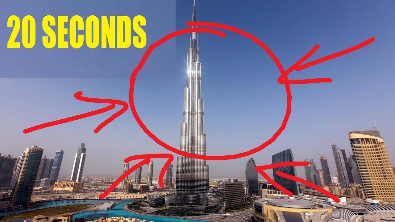 Amazing Speed of Burj Khalifa Elevator 0 to 124 Floor in