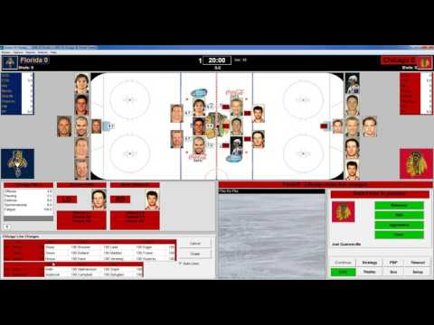 Action PC Hockey 2015 Replay 2009 Regular Season Game Florida vs Chicago