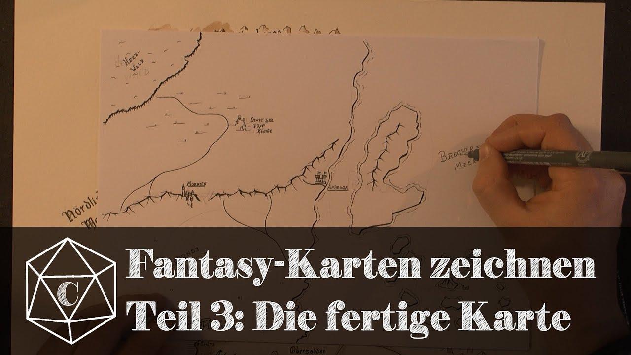 Fantasy Karte.Fantasy Karten Zeichnen Teil 3 Die Fertige Karte Cast Of Characters