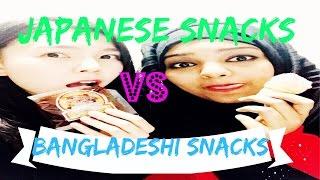 Smiley Sayeeba- JAPANESE GIRL TRIES BANGLADESHI SNACKS!!!!