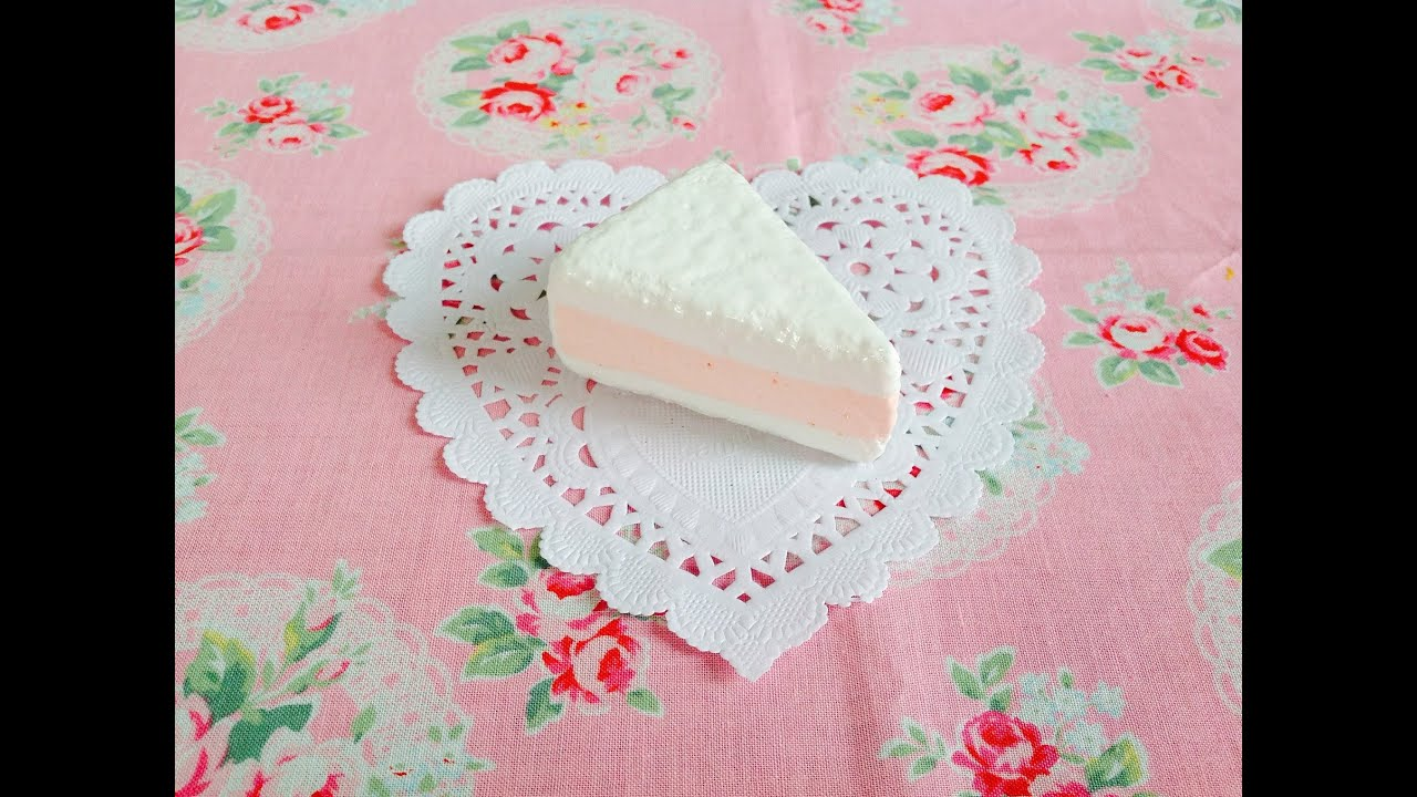 Squishy Cake Slice : Squishy Tutorial: Easy Pastel Cake Slice ? - YouTube