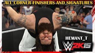 WWE 2K15 - All Corner Finishers and Corner Signatures (PS4 NextGen Gameplay)