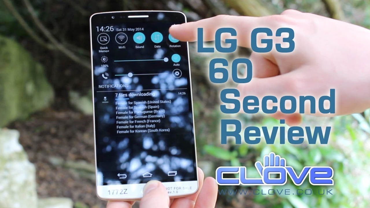 LG G3 60 Second Review