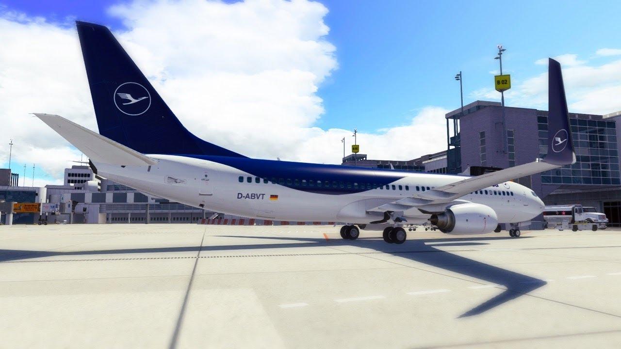 Lufthansa makes BLUE | X Plane 11 Addons - new B737