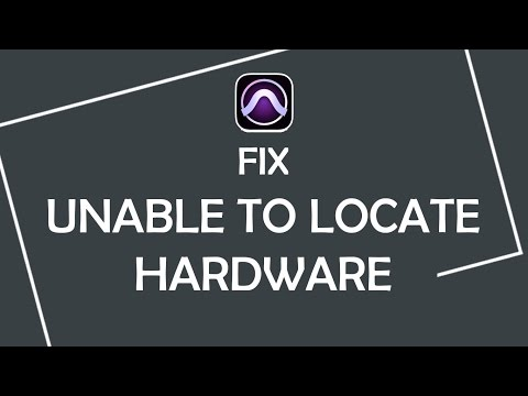 "How to fix ""Unable to locate hardware.."" error while launching Pro Tools in Windows"