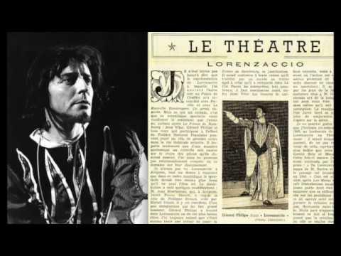 "Alfred de Musset : ""Lorenzaccio""  Mise en scène de Gérard Philipe Festival d'Avignon 1952"