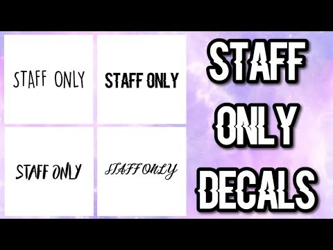 Roblox Bloxburg - Staff Only Decal Id's - YouTube