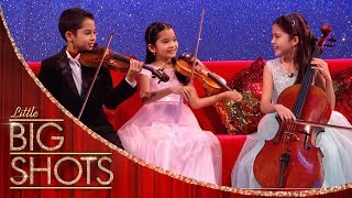 Little Stars String Trio Show Off Their Musical Skills | Little Big Shots