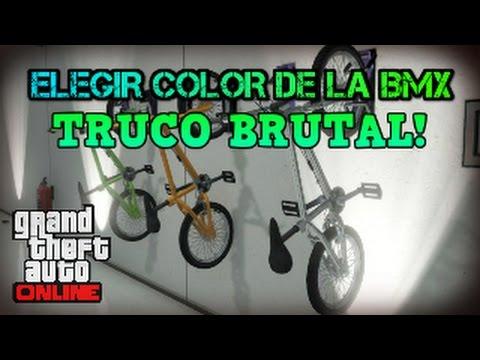 GTA 5 ONLINE 1.27/1.32 TRUCO CONSEGUIR PINTAR BMX DE COLORES GTA V ONLINE 1.27/1.32