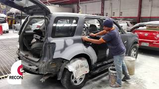 VIDEO VEHICULO FORD SCAPE CHOQUE Y PINTURA TOTAL