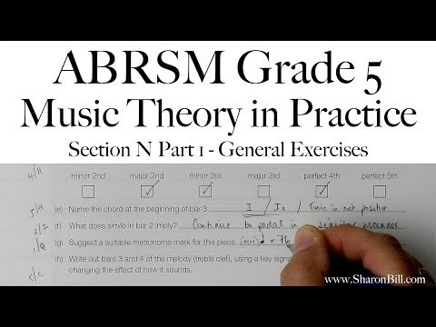 ABRSM Music Theory Grade 5 Section N Part 1 General Exercises with Sharon Bill