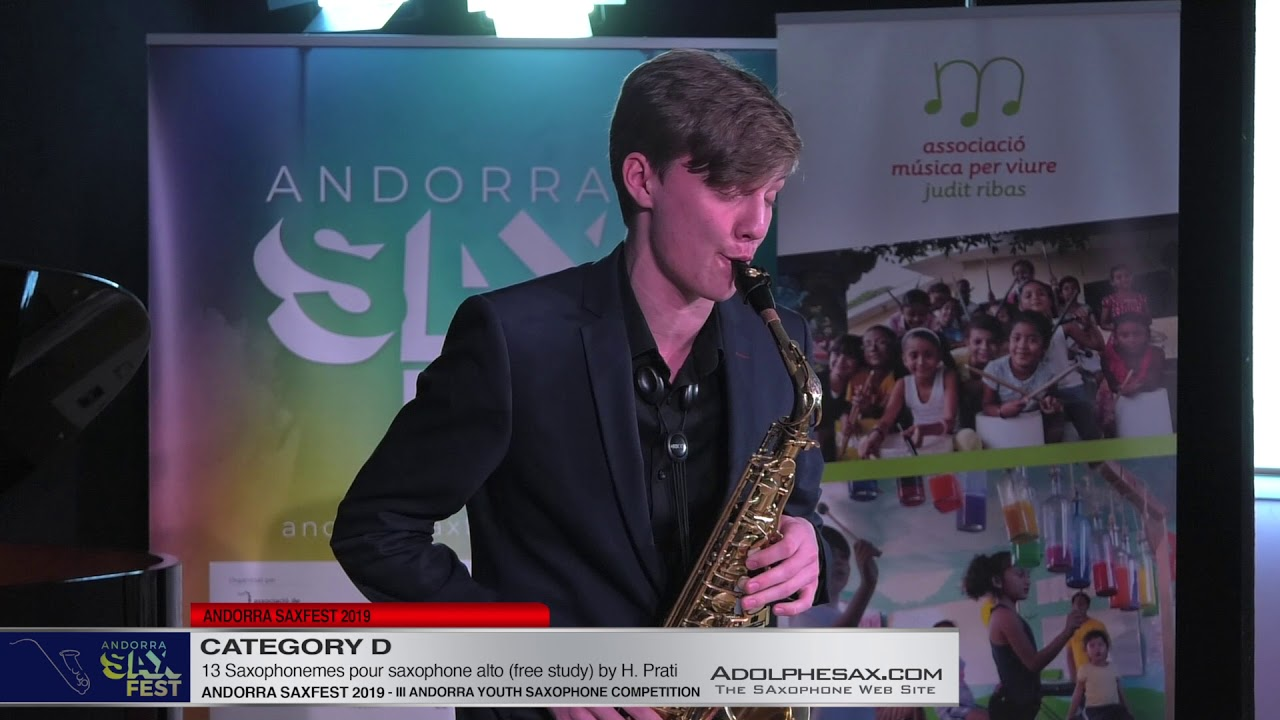 Andorra saxfest 2019 - Youth Competition - Evgenii Chekashov  - 13 Saxophonemes