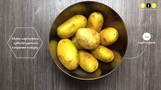 Рецепт: Запеченный картофель с розмарином.