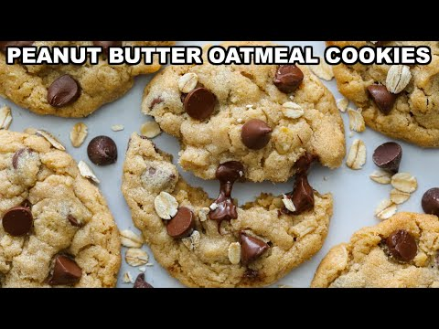 chewy-peanut-butter-oatmeal-cookies