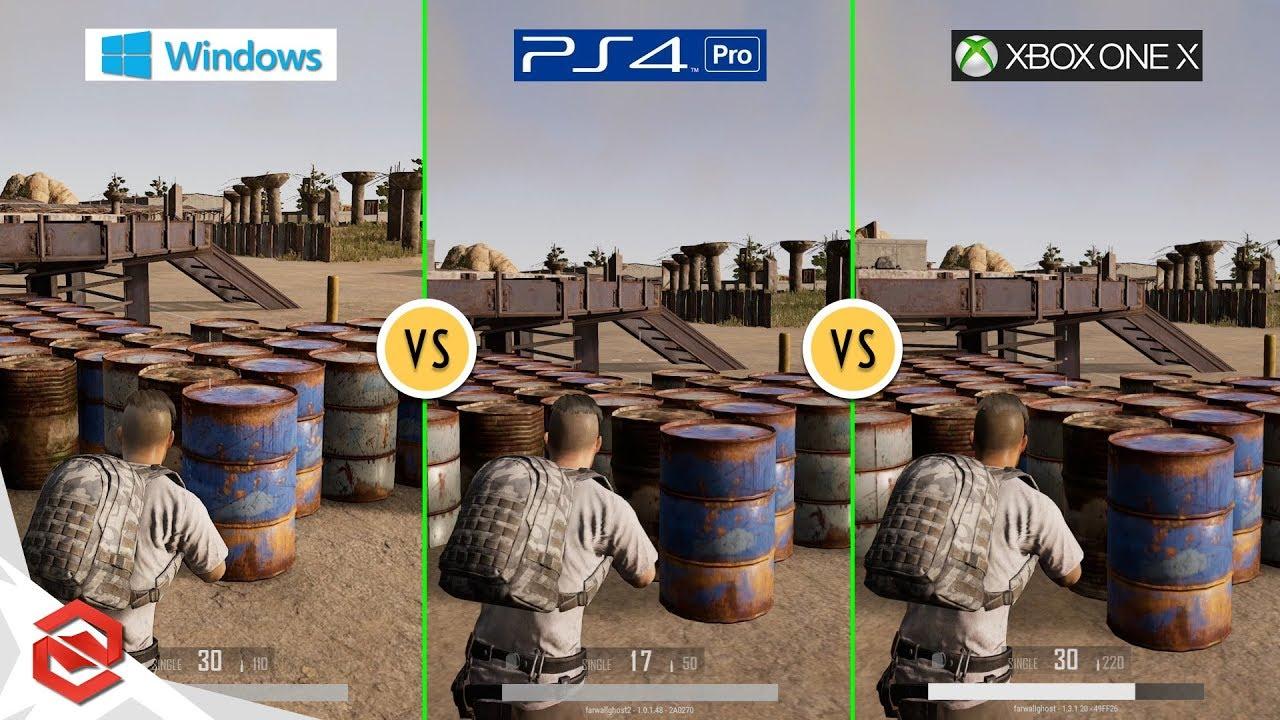 PUBG - PC vs PS4 Pro vs Xbox One X : Graphics Comparison ... Xbox One X Vs Ps4 Pro Graphics Comparison