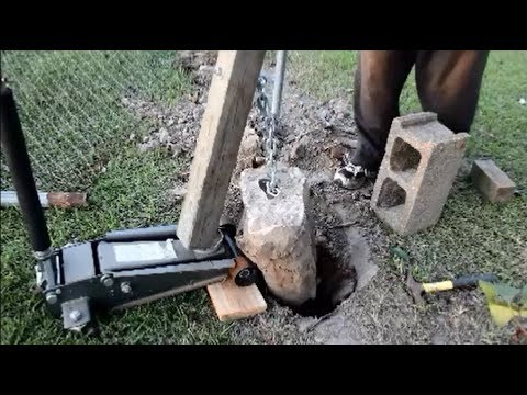 How to remove a metal post !