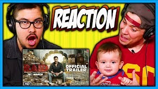 Raid Official Trailer Reaction Video | Ajay Devgn | Ileana D'Cruz | Discussion | Review