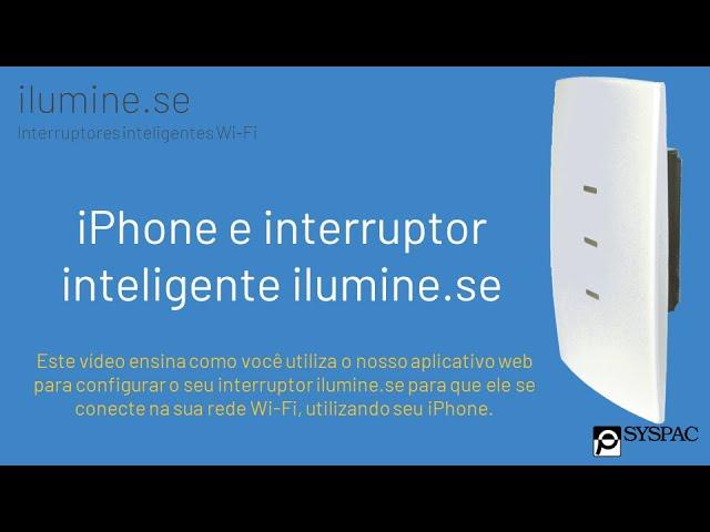 iPhone e interruptor inteligente ilumine.se
