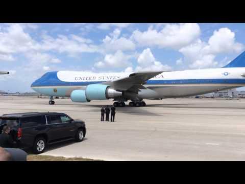 President Obama visits National Hurricane Center