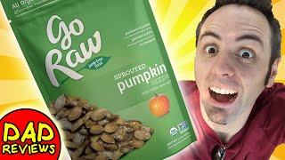 EASY HEALTHY SNACKS   Go Raw Sprouted Pumpkin Seeds Taste Test & Review