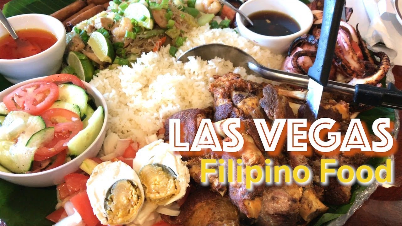 Las Vegas D Pinoy Joint Filipino Restaurant Boodle Fight Food