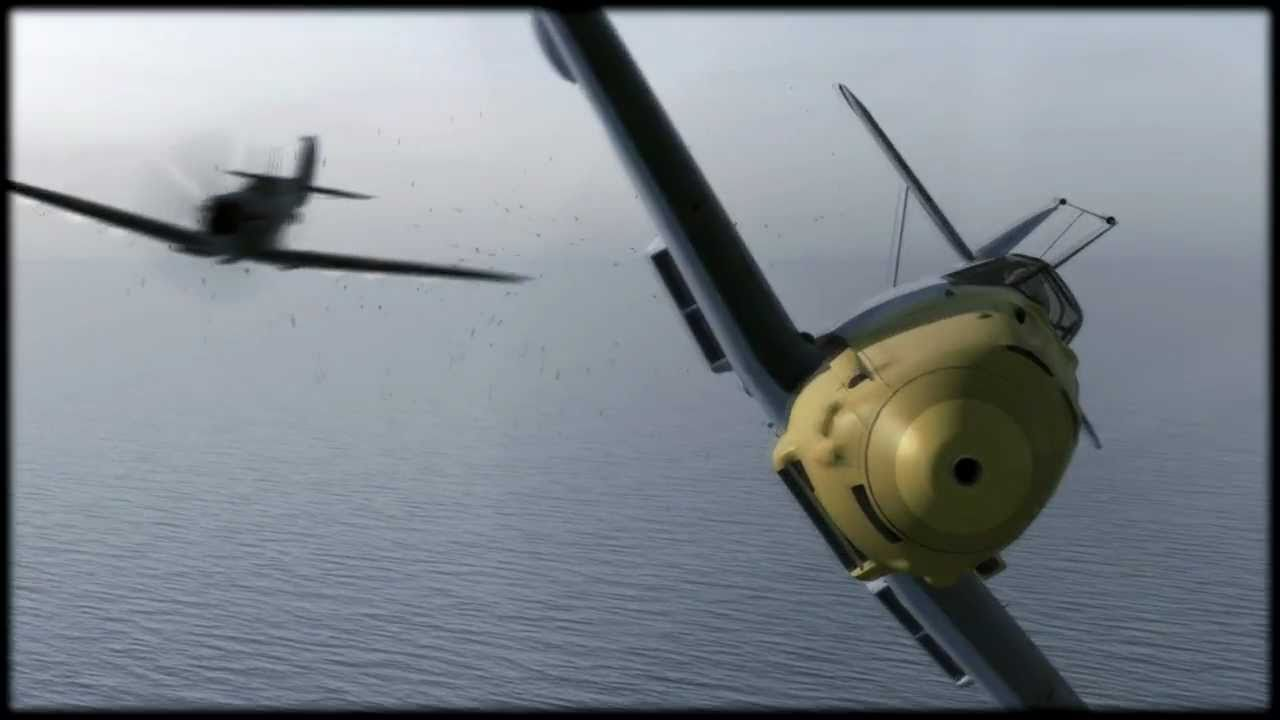 Spitfire,Messerschmitt dogfight - YouTube