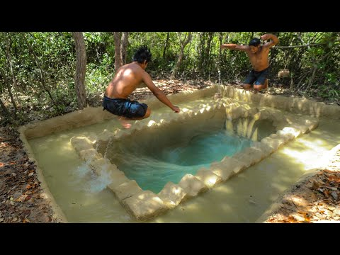 Build Tunnel Mysterious Jungle Swimming Pool Underground