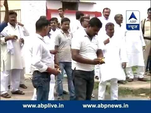Celebrations begin outside JDU office in Patna