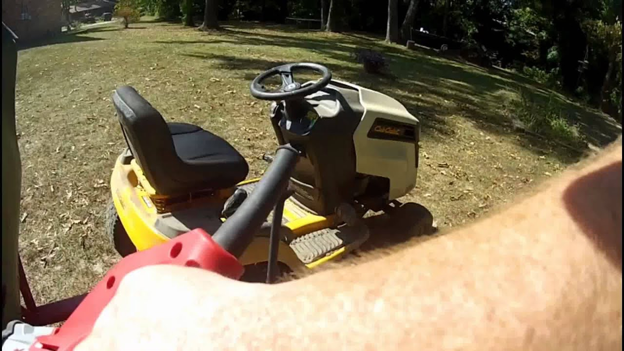riding mower leaf collector 3 youtube