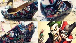DIY buty Joker&Harley Quinn | suzanne marie