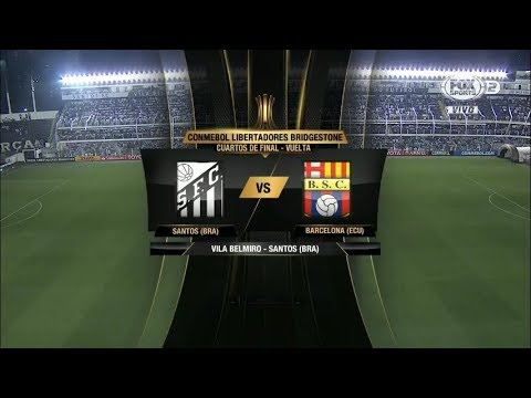 Santos (Bra) vs Barcelona (Ecu) - 1T - CONMEBOL LIBERTADORES 2017 - Fox Sports
