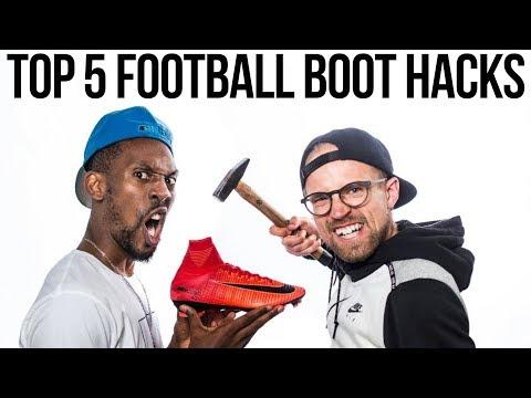 Top 5 FOOTBALL BOOT HACKS - SOCCER CLEAT TRICKS ft. UNISPORT