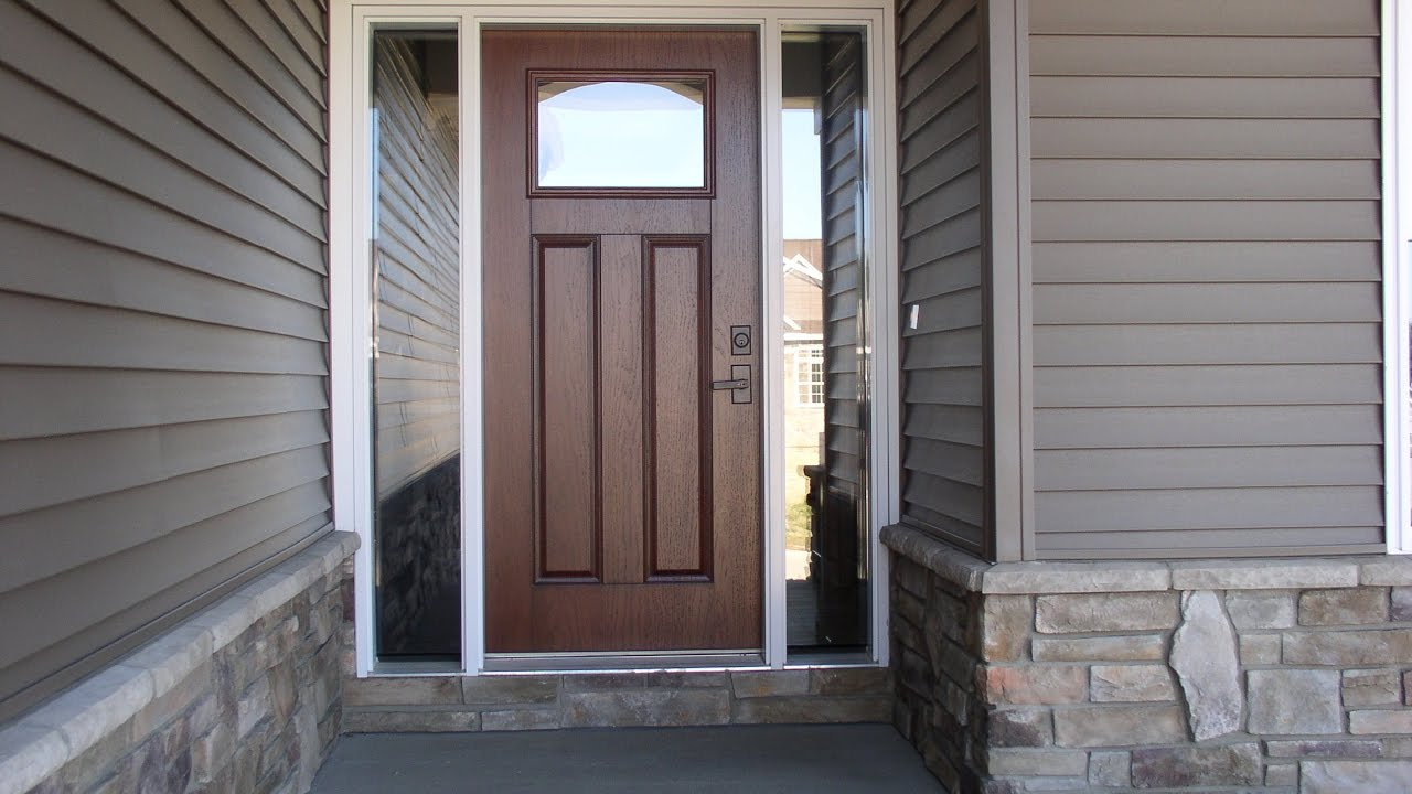 Brown Front Door Colors for Home Designs - YouTube