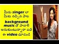 how to sing any song you want with background music