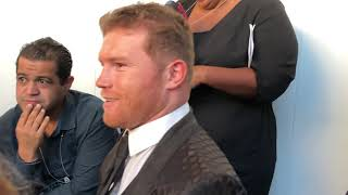 Canelo Alvarez Backstage Says GGG Is Done Talks About Relationship With Oscar De La Hoya Video