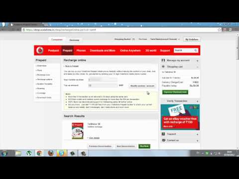 vodafone india recharge online