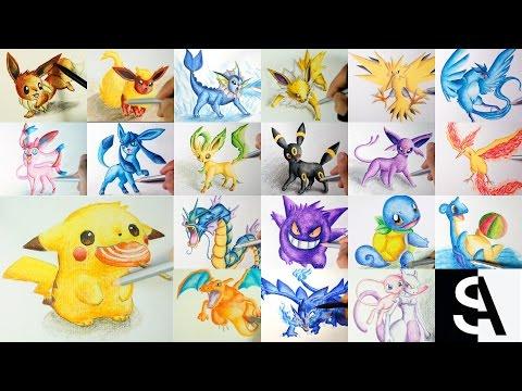 All Pokemon Drawing ( Shin Art)