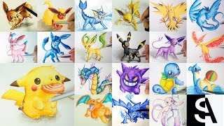 All Pokemon Drawing ( Shin Art)