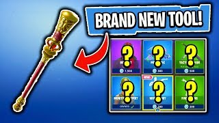 BRAND NEW HARVESTING TOOL! Daily Item Shop In Fortnite: Battle Royale! (Skin Reset #186 PART 2)
